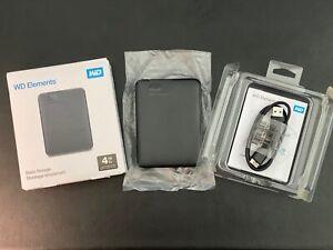 Western Digital Elements 4TB Portable External Hard Drive WDBU6Y0040BBK USB 3.0