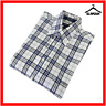 GANT Mens Check Shirt Blue White S Small Charter Oxford Long Sleeve Regular Fit