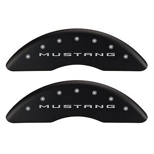 2015-2017 Ford Mustang EcoBoost Perf Front Rear Mat MGP Brake Caliper Cover Pony