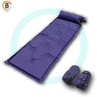 Self Inflating Mattress Camping Hiking Airbed Mat Sleeping with Pillow Bag Camp