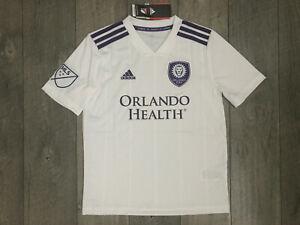 Adidas Orlando City MLS Replica Soccer Jersey Youth Boys Girls Medium NWT $74.99