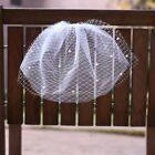 Net Tulle Blusher Veil Pearls Beaded Bridal Veil  Comb Two Layers Beaded Veils