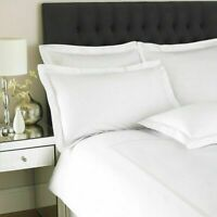 400 Thread Count Duvet Cover Set Sateen 2 Row Cord White Hotel Quality Bedding