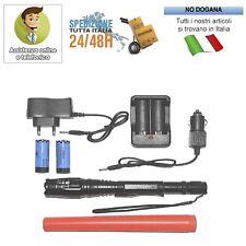 TORCIA 100000 LUMEN TATTICA/MILITARE LED T6 RICARICABILE ZOOM BL-8668
