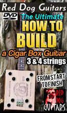 Cigar Box Guitar Building lessons DVD 3 & 4 String for your own parts kit or amp