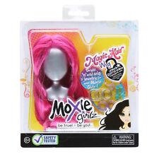 Moxie Girlz PINK Magic Hair Wig Fits Bratz Dolls Toy Accessory Jewelry Girls NIP