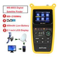Original Satlink WS-6933 LCD FTA DVB-S2 Digital Satellite SAT Finder 950-2150MHz