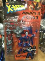 1997 ToyBiz X-Men Monster Armor Mr. Sinister Snap-on Cyber Tech Armor Marvel