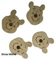 Disney Winnie The Pooh Set Of 4 Wooden Coaster Pack Xmas Novelty Gift Primark