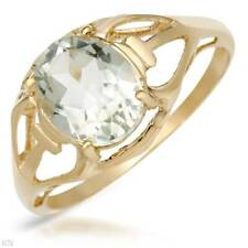 Lovely 1.70ctw Genuine Green Amethyst Solitaire Ring 10K YG Size 7