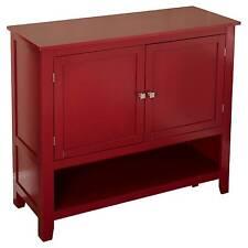 Red Montego Buffet Storage Cabinet Furniture Sideboard Vintage Server Dining Set
