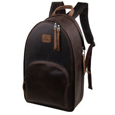 Camera Backpack Leather for SLR/DSLR Camera Accessories Photography Bag Brown
