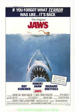 Jaws Movie Poster Linen Backed One Sheet Re-Release 1978 Steven Spielberg