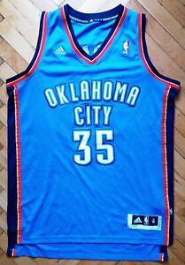 Durant #35 Oklahoma City NBA Adidas 2010 Basketball Jersey 'M'+2 Stitched Shirt