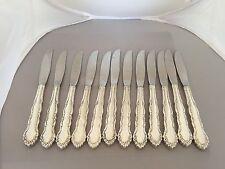 Hermoso Conjunto De 12 cena/Plateado Oneida/cuchillos de mesa (patrón coqueteo)