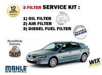 pour Renault Laguna 2.0 dCi 150BHP 2005-9/2007 FILTRE À CARBURANT air huile