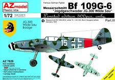 """AZ Model 1/72 Messerschmitt Bf-109G-6 """"Jagdgeschwader JG.300 Wilde Sau"""" Part III"""