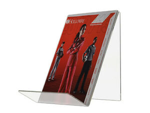 """6"""" Recipe Book Easel J Stand Acrylic Construction, Single Sided - Clear"""
