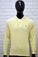 Polo Maglia Uomo LACOSTE Taglia 5 ( XL ) Maglietta Manica Lunga Shirt Man Casual