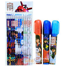 Big Hero 6 Hiro Baymax Pencil Fragrance Eraser 15pc Stationery Set