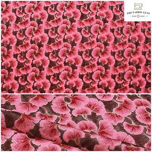 "Shimmer Brocade Fabric, Cherry Blossom Petal , Dark Pink , 58""  Bags Upholstery"