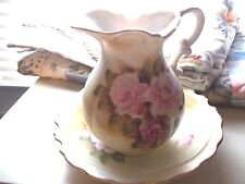 HOME DECORATIVE PITCHER & BOWL FLORAL MADE IN JAPAN