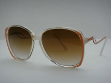 Rare 1980s Vintage Sylvie Renaissance Frame France Womens Sunglasses Red/White