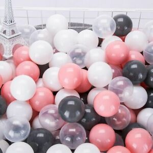 100 PCS Colorful Plastic Pit Balls For Kids Pool Soft Ocean Balls Eco Friendly
