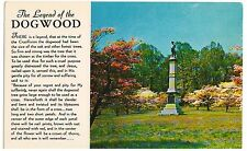 postcard The Legend of the Dogwood, Virginia state flower and tree