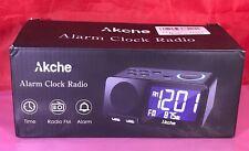 Akche Alarm Clocks For Bedrooms Night Light Digital Alarm Clock With Fm Radio,Ad