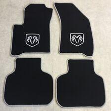 Autoteppich Fußmatten für Dodge Journey schwarz silber ab 2008 4teilig Neu