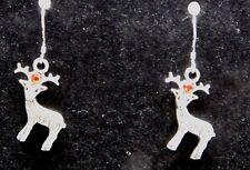 Tibetan Silver Raindeer Dangle Earrings on .925 Silver Fish Hook Findings