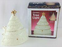 "Giftco Inc Porcelain Tree Light, Nightlight, Christmas Decoration, 7 3/4"" Tall"
