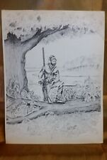 Rare Vintage Print by J. Leo Duyer_ Mountain Man 1971