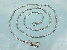 "Stainless Steel 316L Chain Necklace Hypoallergenic 2mm 24""  *  US Seller  *"