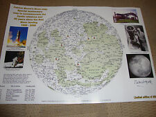 SIR PATRICK MOORE (deceased) personally signed Ltd Edition MOON MAP - 16x12