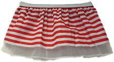 CHILDS Red and White Striped Nerd Tutu Skirt Kids Fancy Dress UK