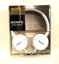 NEW Sony MDR-ZX100 Stereo Studio Monitor White Headphones ZX100 Phones DJ Home