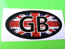UNION JACK GB Distressed Look Van Car Motorcycle Caravan Sticker Decal 80mm