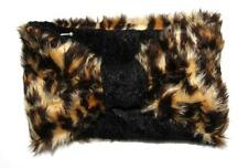 Leopardo Piel sintética Head Band Ear Muff Calentador Diadema Turbante