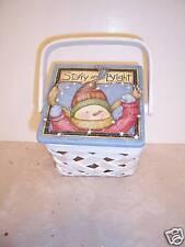 Snowman Woven Christmas Basket Container Decoration