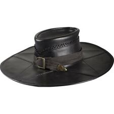 Witch Hunter Leather Hat, Black, S, Larp, Theater, Steampunk, Cosplay