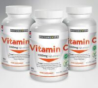 Vitamin C 540 Tablets 1000mg High Strength Made In UK Futurevits 3 x 180 Bottles