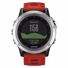 Garmin Fenix 3 Argent avec Bande Rouge Multisport Entraînement Montre GPS 010