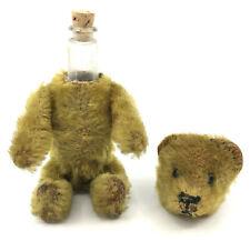 Schuco Germany Perfume Teddy Bear 12cm 5in Mohair Plush over Metal 1920s 30s Vtg