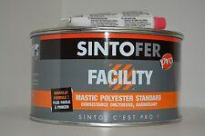 MASTIC Polyester de Finition  ponçable  PRO FACILITY SINTOFER boite de 1,5 kg