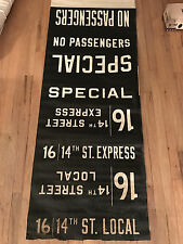 1960s IND/BMT R-16/27 Car Side Route Rollsign Section New York Subway Vellum