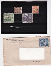 MALTE - Enveloppe contenant une petite lettre - esperanto  + 4 timbres oblitérés