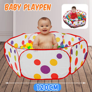 47.2in Baby Pet Play Yard Portable Playpen Indoor Outdoor Infant Play Fence  %