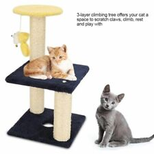3 Layer Cat Climbing Tree Scratching Post Board Hanging Toy Home Pet Activity